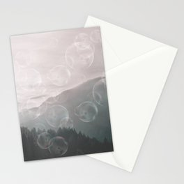 Dreamy Outdoor Mountain Landscape Stationery Cards