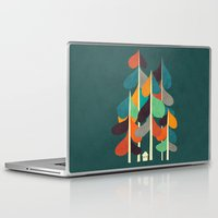 cabin Laptop & iPad Skins featuring Cabin in the woods by Picomodi