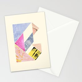 Collaged Tangram Alphabet - B Stationery Cards