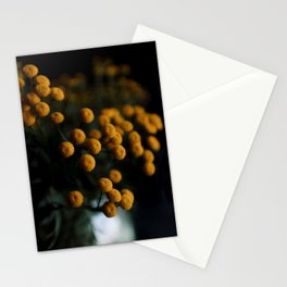 mustard yellow flowers Stationery Cards