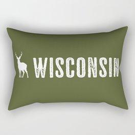 Deer: Wisconsin Rectangular Pillow