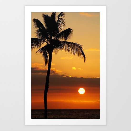 Lonely Palm Tree Art Print