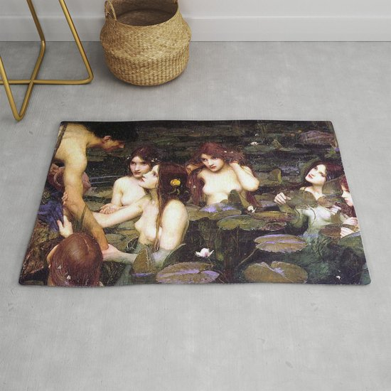 HYLAS AND THE NYMPHS - WATERHOUSE by iconicpaintings
