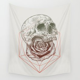 Skull Rose Geo Wall Tapestry