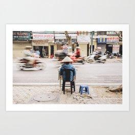 The passing of time in Hanoi, Vietnam Art Print