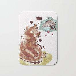 The Bear and the Salmon Bath Mat