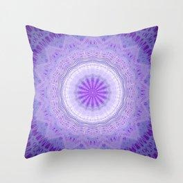 Dark Purple Mandala Design Throw Pillow