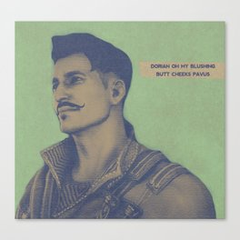 Dorian 'Oh my blushing butt cheaks' Pavus Canvas Print