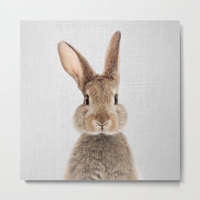 Rabbit - Colorful Metal Print