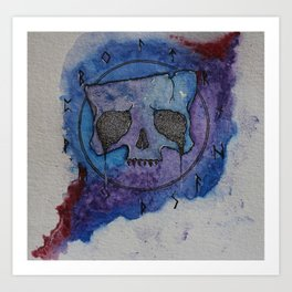 Rune Skull, Vampire Bloodlust Art Print