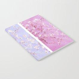 Vincent Van Gogh : Almond Blossoms Lavender Panel Art Notebook