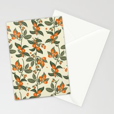 Oranges Pattern Stationery Cards