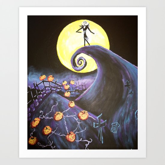 Nightmare Before Christmas Art Print by Leslie Creveling | Society6