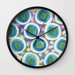 Four Directions Dot Pattern Wall Clock