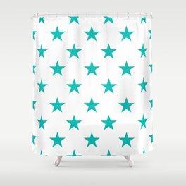 Stars (Eggshell Blue/White) Shower Curtain