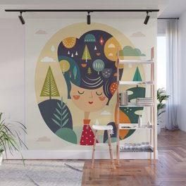 Girl with Trees Wall Mural
