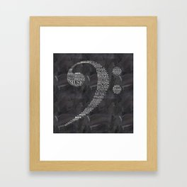Fa key on chalkboard Framed Art Print