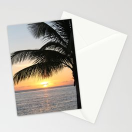 Sunrise and Palm Tree Stationery Cards