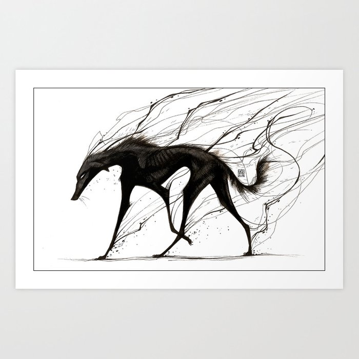 Raising Shadows Art Print