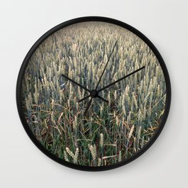 Wheat Field Wall Clock