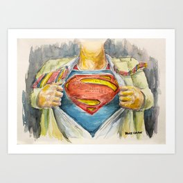 Superman - Fictional Superhero Art Print