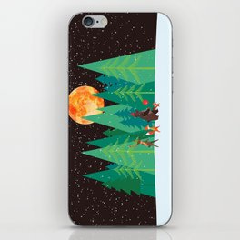 Take a walk under the moon iPhone Skin