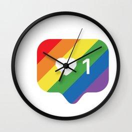 Instagram LGBTQ Heart Notification Wall Clock