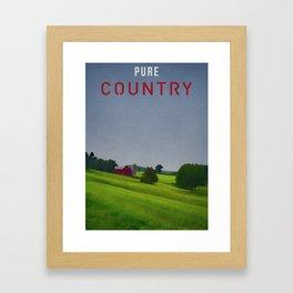 Pure Country Red Barn Art Poster Framed Art Print