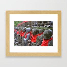 Little Japanese Jizo Framed Art Print