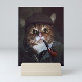 Holmes the Cat Mini Art Print