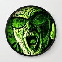 scream Wall Clocks featuring SCREAM! by Silvio Ledbetter