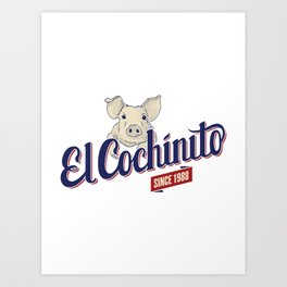 El Cochinito Orginal Art Print