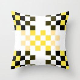 Yellow Pixel Throw Pillow