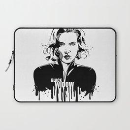 Fandom in Ink: Black Widow Laptop Sleeve