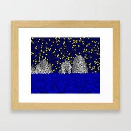 Starry Capri Framed Art Print
