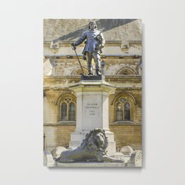 Oliver Cromwell Statue Metal Print