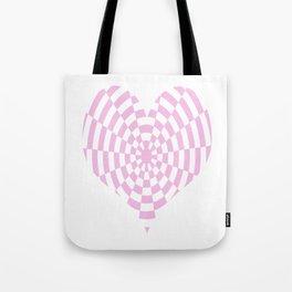 Monochrome Daze Pastel Pink Heart Tote Bag