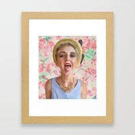 Floral Kool-Aid Summer Day Framed Art Print