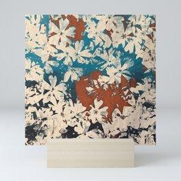 Weston Flowers, blues & browns Mini Art Print
