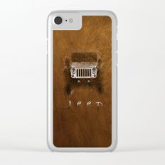 Jeep Abstract Clear iPhone Case