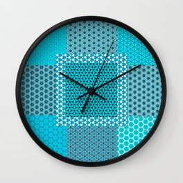 Abstract Turquoise Pattern C1 Wall Clock