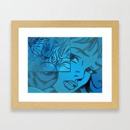 Lichtenstein collage Framed Art Print