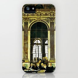 The Signing of Peace in the Hall of Mirrors, Versailles - Sir William Orpen iPhone Case