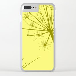 Wildflower yellow Clear iPhone Case