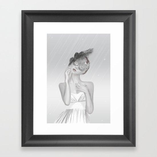 Covered in White Framed Art Print