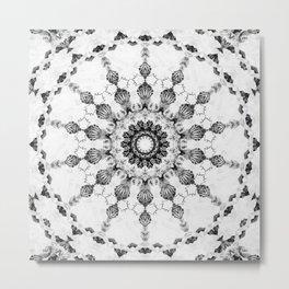Damask design Metal Print