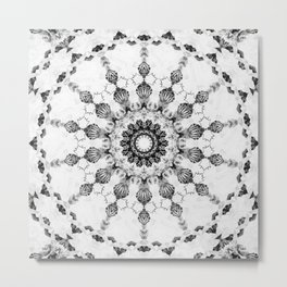 Damask design Metal Print