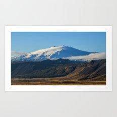 Snaefellsjokull volcano 2 Iceland Art Print