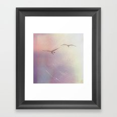 Red Skies Gleaming Framed Art Print