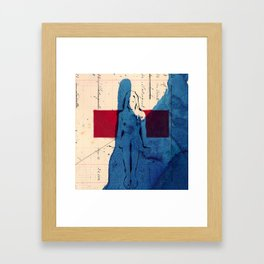 the wait Framed Art Print